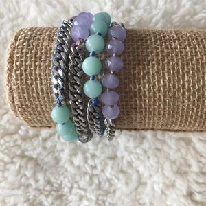 Chloe & Isabel bead+ chain multi-wrap bracelet